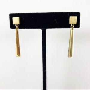 Napier swanky vintage goldtone drop earrings